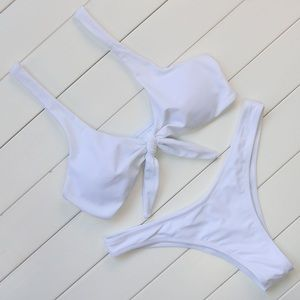 Other - White Tie Front Cheeky Bikini